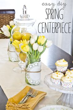 How to Create an Easy Spring Centerpiece {On the Cheap} - Yellow Bliss Road