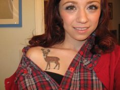 Cool Deer Tattoo for Girls Deer Hunting Tattoos, Deer Tattoo, I Tattoo, All Tattoos, Tattoos For Guys, Tattoos For Women, Tatoos, Future Fashion, Picture Tattoos