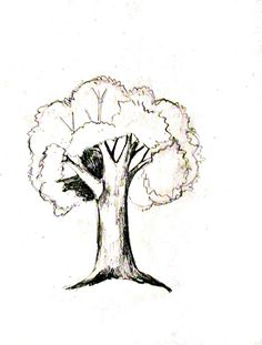 drawings easy How to draw a tree tutorial - How To Draw A Tree: Step by step tutorial with photos showing how to draw seven different trees. 3d Drawings, Landscape Drawings, Cartoon Drawings, Drawing Sketches, Pencil Drawings, Realistic Drawings, Drawing Skills, Drawing Techniques, Drawing Tips