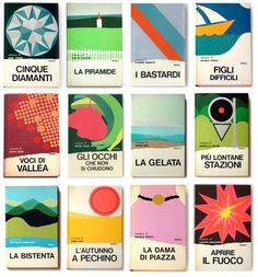 #communedesign #blog Italian designer Mario Degrada created a series of book covers for Rizzoli in the 70s. Here are some of our favorites.