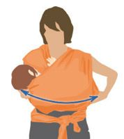 How to position a baby in a wrap to nurse