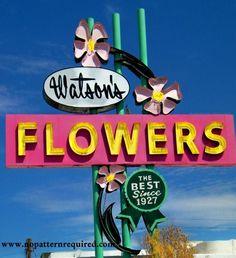 Garden Deco. « ⋅ Victoria Elizabeth Barnes ⋅ Vintage Flower Marquee. Art Deco Signs.