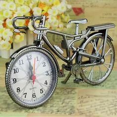 NEW ARRIVAL - Vintage Bicycle Quartz Movement Alarm Clock #vintagebicycles