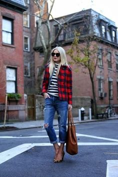 Ms. Atlantic-Pacific always looking fly, with mixed prints! Buffalo plaid, stripes and leopard, lovin