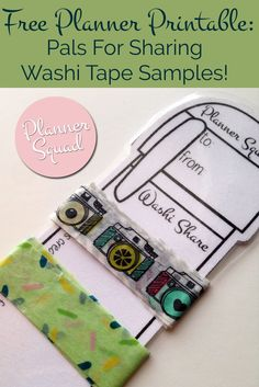 Do you like to share washi tape samples with friends? Get these free planner printable pals- so cute & such a fun way for sharing washi! For more free planner printables check out www.plannersquad.com