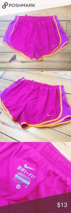 Nike Shorts Pink, Purple, + Orange Sz Med Nike Shorts Pink, Purple, + Orange Sz Med // good used condition Nike Shorts