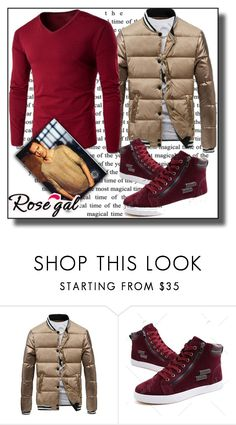 """""""Men's clothing"""" by dzemila-c ❤ liked on Polyvore featuring rosegal"""