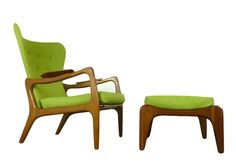 Wing Lounge Chair And Ottoman By Adrian Pearsall, $2 200.00