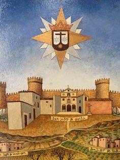 Ocd, Spirituality, Painting, Virgin Mary, Saints, Mother Teresa, Coat Of Arms, Sky, Needlepoint