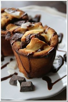Coconut and Dark Chocolate Yorkshires | 15 Insanely Delicious Yorkshire Pudding Recipes