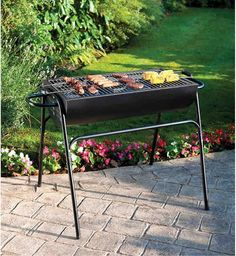 Portable Charcoal BBQ Garden Barbecue Grill Barbeque Outdoor Smoker Camping New