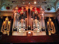Sydney Town Hall Organ:   Hill & Son 1886-89, 5 manuals, 127 speaking stops, tubular-pneumatic/Barker lever