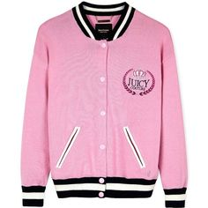 Juicy Couture Embellished Varsity Bomber Jacket (8.705.655 VND) ❤ liked on Polyvore featuring outerwear, jackets, tops, casacos, pink, pink jacket, letterman jackets, sports letterman jackets, juicy couture en varsity jacket