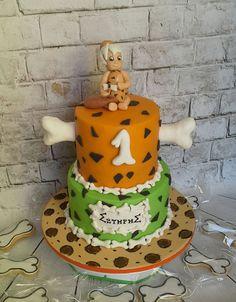 Flintstones bambam cake