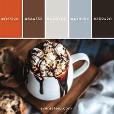 White Ceramic Mug Filled With Dessert Color Palette – Ave Mateiu Vintage Colour Palette, Modern Color Palette, Colour Pallette, Colour Schemes, Vintage Colors, Color Combos, Colour Board, Logo Color, Color Theory