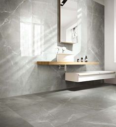 Be inspired by Beaumont Tiles' bathroom ideas gallery. Browse our collection of bathroom design ideas in a range of styles to inspire your next reno. Grey Modern Bathrooms, Modern Bathroom Tile, Stone Bathroom, Bathroom Floor Tiles, Bathroom Interior, Bathroom Marble, Bathroom Ideas, Bathroom Porcelain Tile, Nature Bathroom