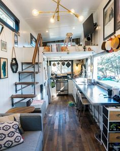 Cut Excess Architecture with a Tiny House on Wheels. By Joshua and Shelley Engbe. Cut Excess Architecture with a Tiny House on Wheels. By Joshua and Shelley Engberg. Modern Tiny House, Tiny House Living, Tiny House Plans, Tiny House On Wheels, Living Room, Small Room Design, Tiny House Design, Home Design Plans, Home Interior Design