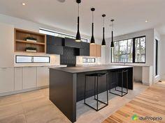 21 rue dApremont- By Constructions Louis-Seize Blainville for sale Louis Seize, Interior Architecture, Interior Design, Small Kitchen Storage, Open Plan Kitchen, Kitchen Remodel, Kitchen Decor, House Plans, Sweet Home