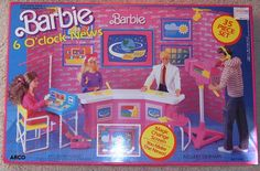 Ok...I didn't have this one....but this is hilarious!!!! Barbie - 6 oclock news set