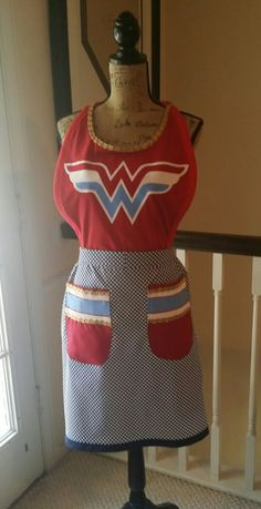 Wonder Woman Tshirt apron.