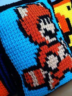 Ravelry: MalonB's Racoon/Tanooki Mario Pillow - Tunisian Crochet :)
