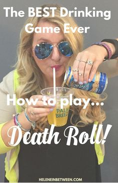 The Best Drinking Game Ever - how to play Death Roll! Seriously, so so much fun and easy to learn. It gets competitive fast! Camping Drinking Games, Drinking Games For Couples, Halloween Drinking Games, Outdoor Drinking Games, Christmas Drinking Games, Adult Drinking Games, Camping Drinks, Drinking Games For Parties, Adult Party Games