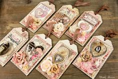 Treasures Of Love Tags — Frank Garcia Studio Card Tags, Gift Tags, Atc Cards, Love Tag, Handmade Tags, Paper Tags, Artist Trading Cards, Vintage Tags, Valentine Crafts