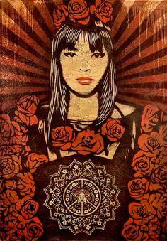 Rose Girl ( canvas 2008) Shepard Fairey