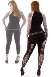 Kali Slashed Leggings by Necessary Evil