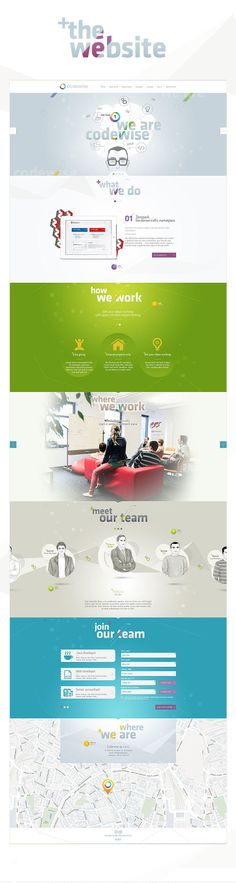 Codewise Website by Hello! Studio , via Behance