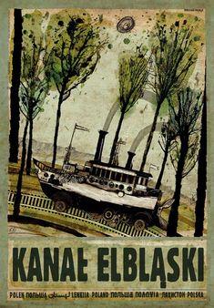 Elblag Canal, Poland, Kaja Ryszard, Polish Poster
