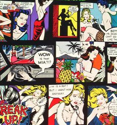Home Sewing II Hawaii Bright Comic Fabric by Alexander Henry