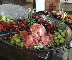 Grazing Table at Twin Tails Event Farm Grazing Tables, Twin, Beef, Food, Meat, Essen, Meals, Twins, Yemek