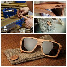 Notiluca com seus óculos feitos a mão, um a um. 8) #oculos #eco #notiluca #oculosdemadeira #madeira #artesanal