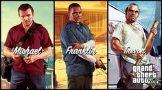 Franklin=ghetto guy from the hood Michael=rich guy from the suburbs Trevor=mentally unstable meth dealer/addict from the country