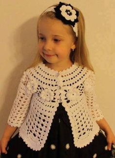 Robes tutu crochet baby crochet for kids crochet toys baby knitting baby girl dresses baby dress baby boy outfits ma petite favland org Crochet Coat, Crochet Jacket, Crochet Cardigan, Crochet Clothes, Booties Crochet, Baby Booties, Baby Girl Crochet, Crochet For Kids, Baby Girl Dresses
