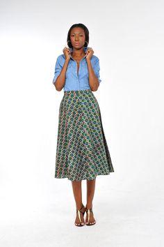 African Print 3/4 skirt 2