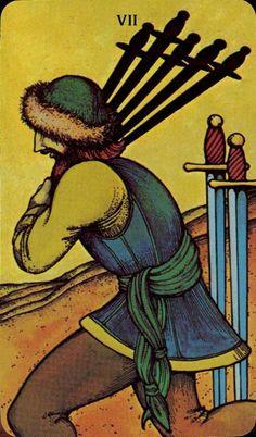Seven of Swords - Morgan-Greer Tarot by Bill Greer, Lloyd Morgan