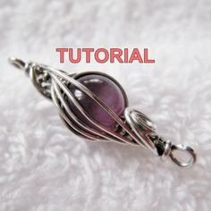 WIRE JEWELRY Tutorial  Caged Herringbone Woven Bead with FREE