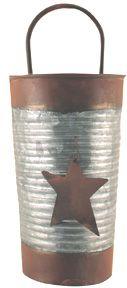 Rusty-Metal wall bucket