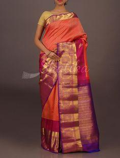 Isha Full Ornate Designer Border Pallu Wedding #DharmavaramSilkSaree
