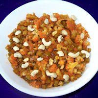 Cauliflower & Beans With Cashews Curry Recipe,Cauliflower & Beans With Cashews, Beans & Cauliflower Curry - Givoli.com