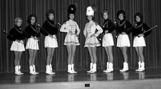 1964 High School Majorettes -- so classy!      Central High School in Cape Girardeau, MO