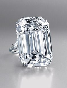 Lesotho Diamond was set in this 71.73 carat ring, and the third, also handled by Harry Winston, was given to Jacqueline Kennedy by Aristotle...