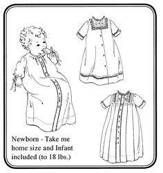 Baby's First Daygowns Pattern