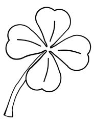 four leaf clover printable coloring page - Four Leaf Clover Printable
