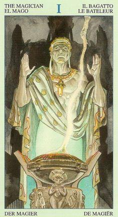 The Magician - Tarot of Atlantis by Bepi Vigna, Massimo Rotundo Tarot Cards Major Arcana, Divine Tarot, The Magician Tarot, Marguerite Duras, Fortune Telling Cards, Tarot Card Decks, Tarot Readers, Oracle Cards, Archetypes