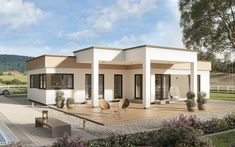 Bauhaus, Bungalow, Low Platelets, Walk Out, Pergola, Outdoor Structures, Solitaire, Mansions, House Styles