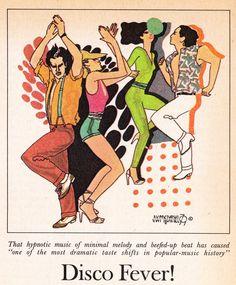Disco Era Detritus: Odds & Ends from 1979 - Flashbak The Shah Of Iran, Disco Fashion, Popular Music, Apocalypse, Photo Booth, Nostalgia, Cartoon, Retro, Illustration