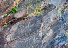 gravure sur rocher en plein air - mazouco - portugal